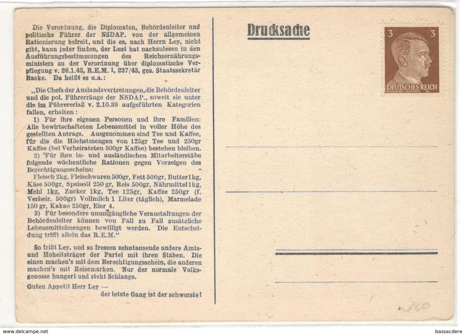 21695 - Reichsleiter Dr ROBERT  LEY - Lettres & Documents