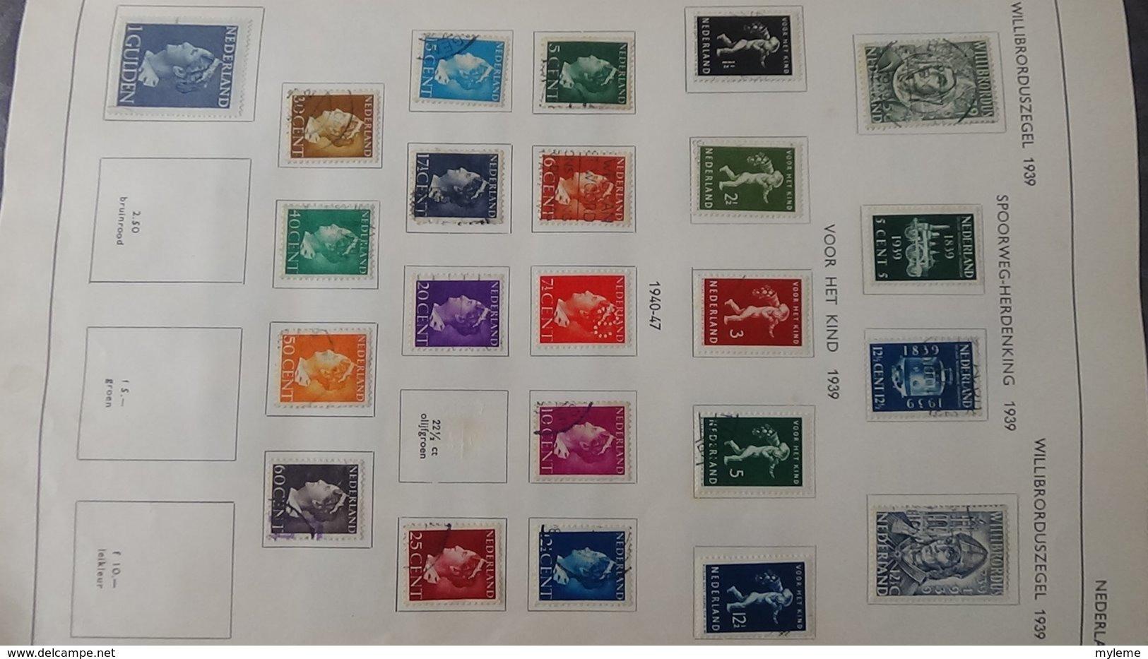 Belle Collection De HOLLANDE Dont Des Doubles Superposés. Idéal Pour Combler Des Thématiques. - Stamps