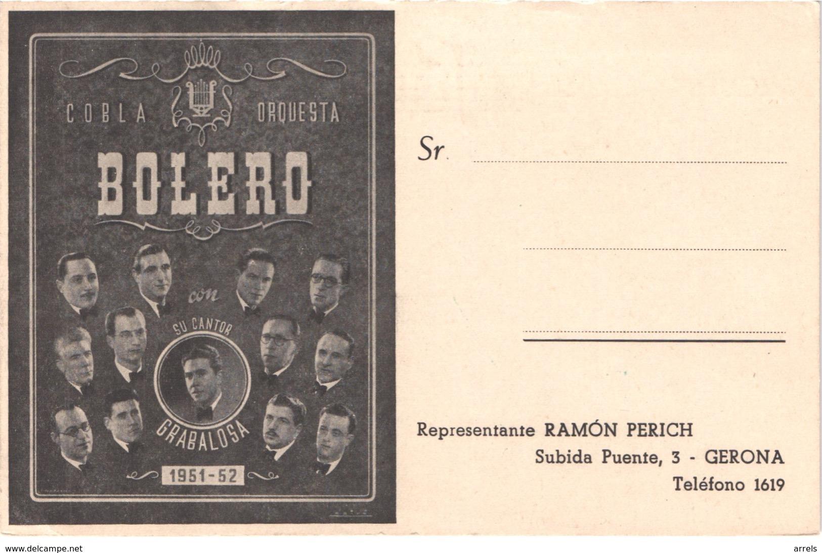 ES GERONA - Cobla Orquestra BOLERO - 1951 1952 - Animée - Belle - Gerona