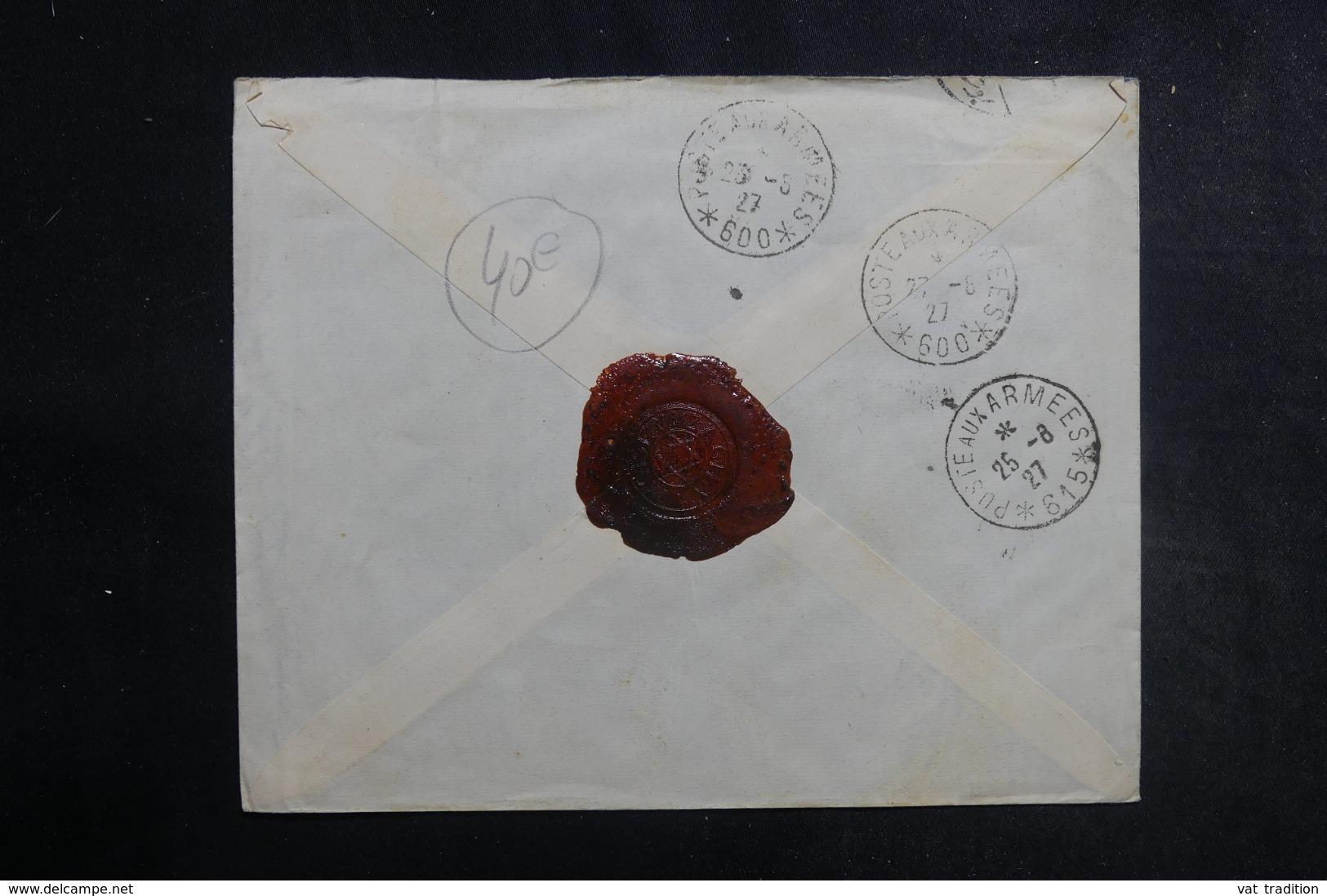 SYRIE - Enveloppe En Recommandé De Damas Pour SP 600 En 1927, Affranchissement Plaisant - L 42163 - Syrie (1919-1945)