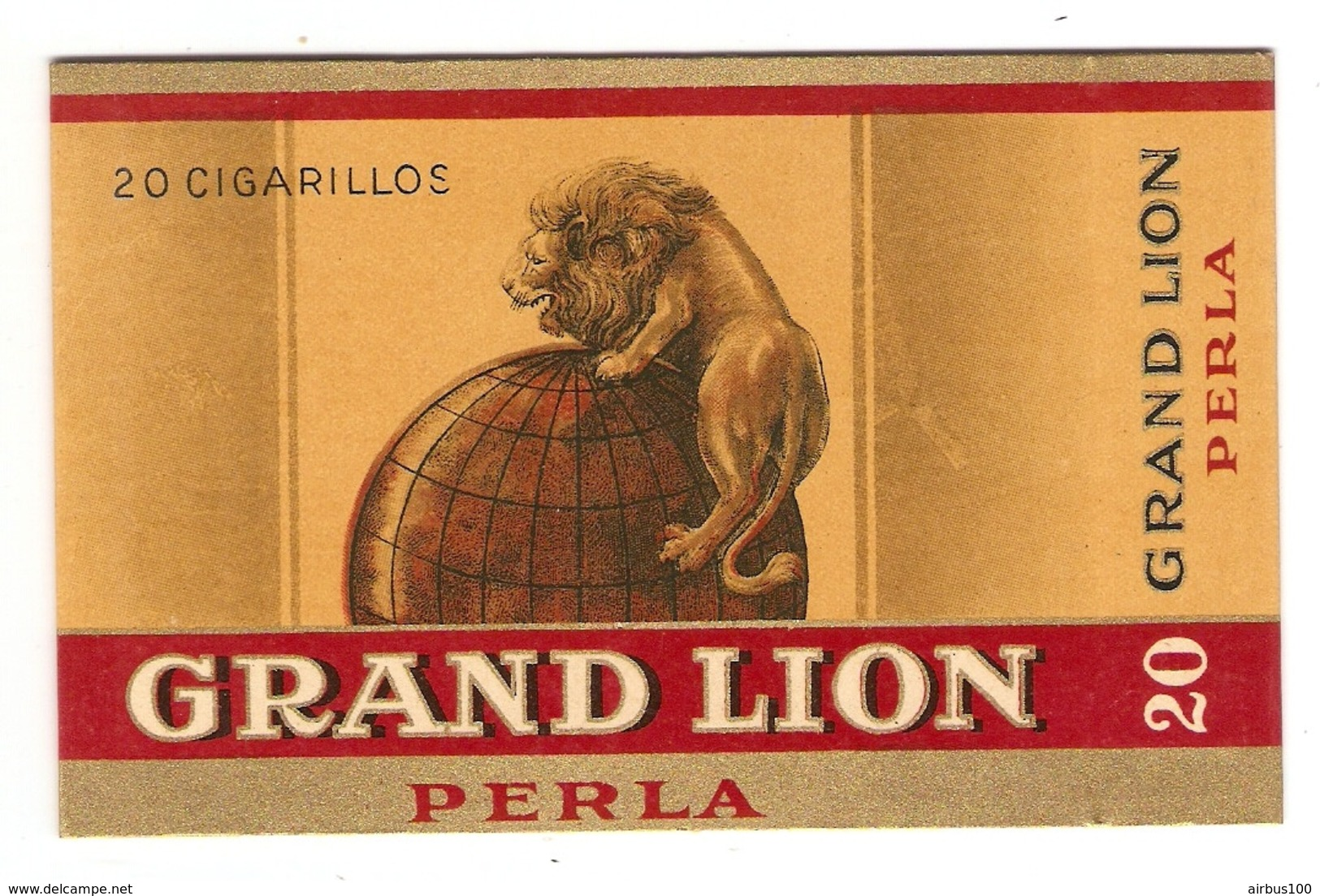 ETUI BOITE 20 CIGARILLOS GRAND LION PERLA - TABAC - TABACOS PRIMEROS - CIGARE - MAPPEMONDE - Zigarrenetuis