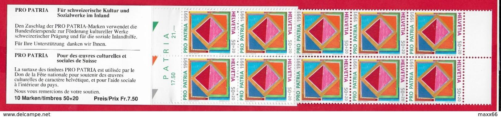 LIBRETTO SVIZZERA MNH - PRO PATRIA 1991 - 10 X 50 + 20 Cent. - Pro Patria