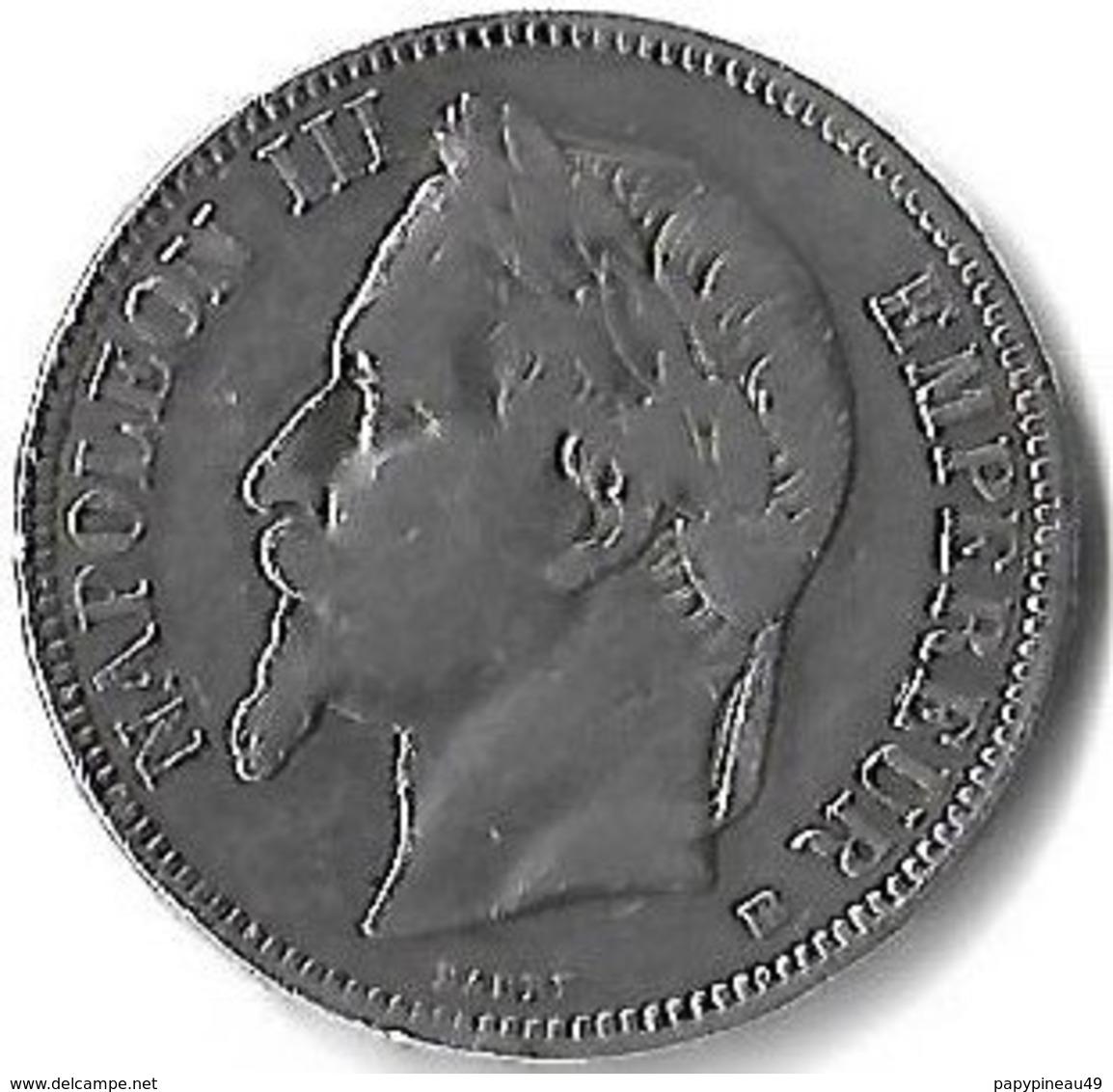 5 Francs Argent Napoleon Iii  Tete Lauree 1868 BB - J. 5 Francs