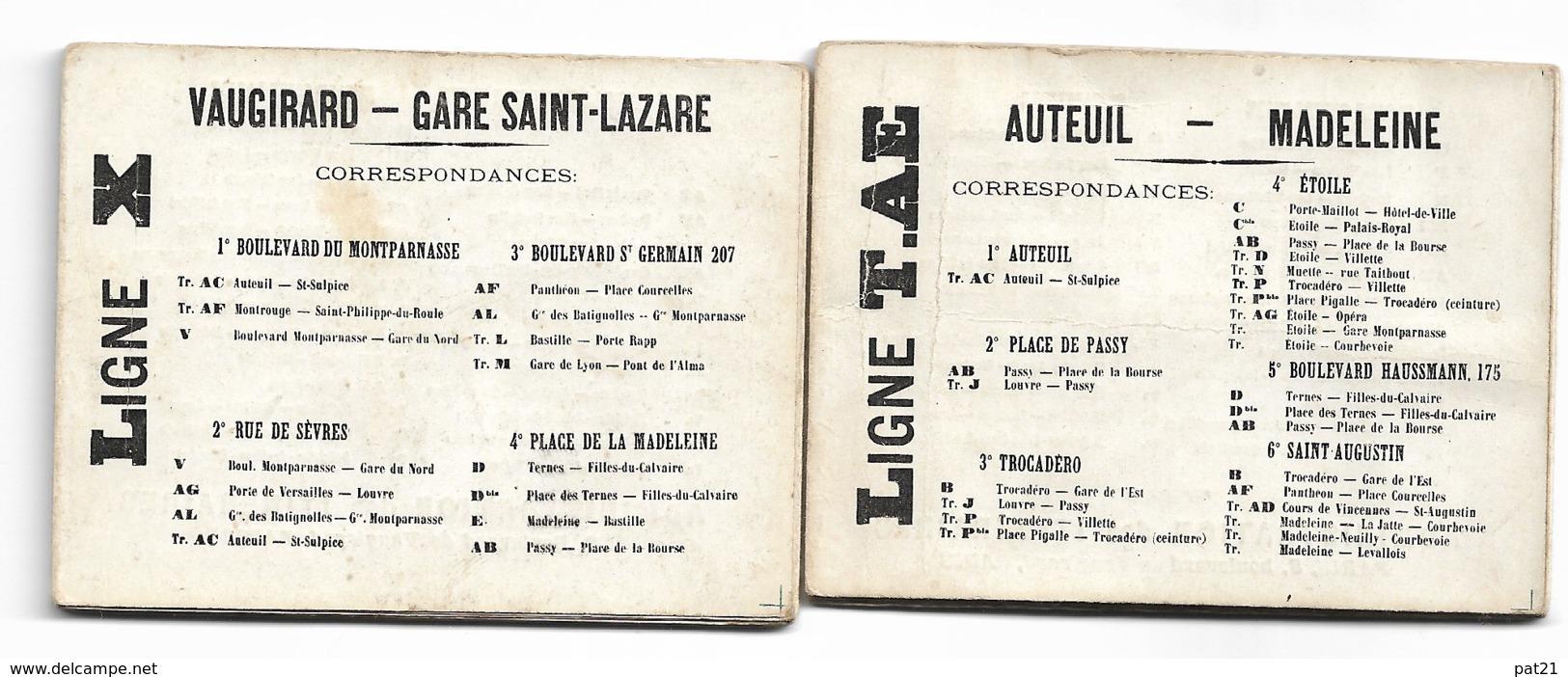 PARIS 1900: Nouveaux Itinéraires Illustrés, Brevetés SGDG Et Déposés Sd.lot Exceptionnel De 8 Dépliants - Vieux Papiers