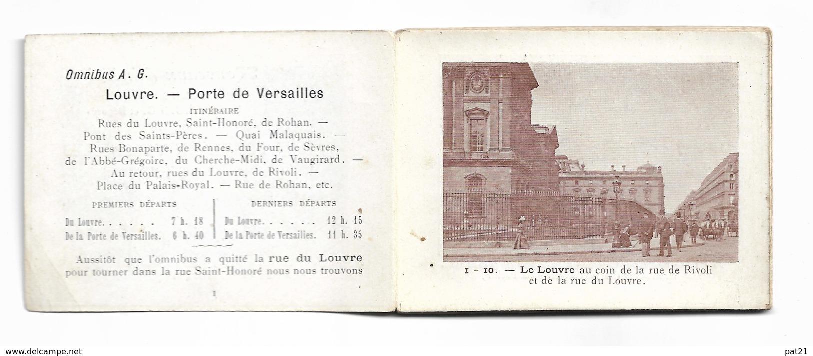 PARIS 1900: Nouveaux Itinéraires Illustrés, Brevetés SGDG Et Déposés Sd.lot Exceptionnel De 8 Dépliants - Old Paper