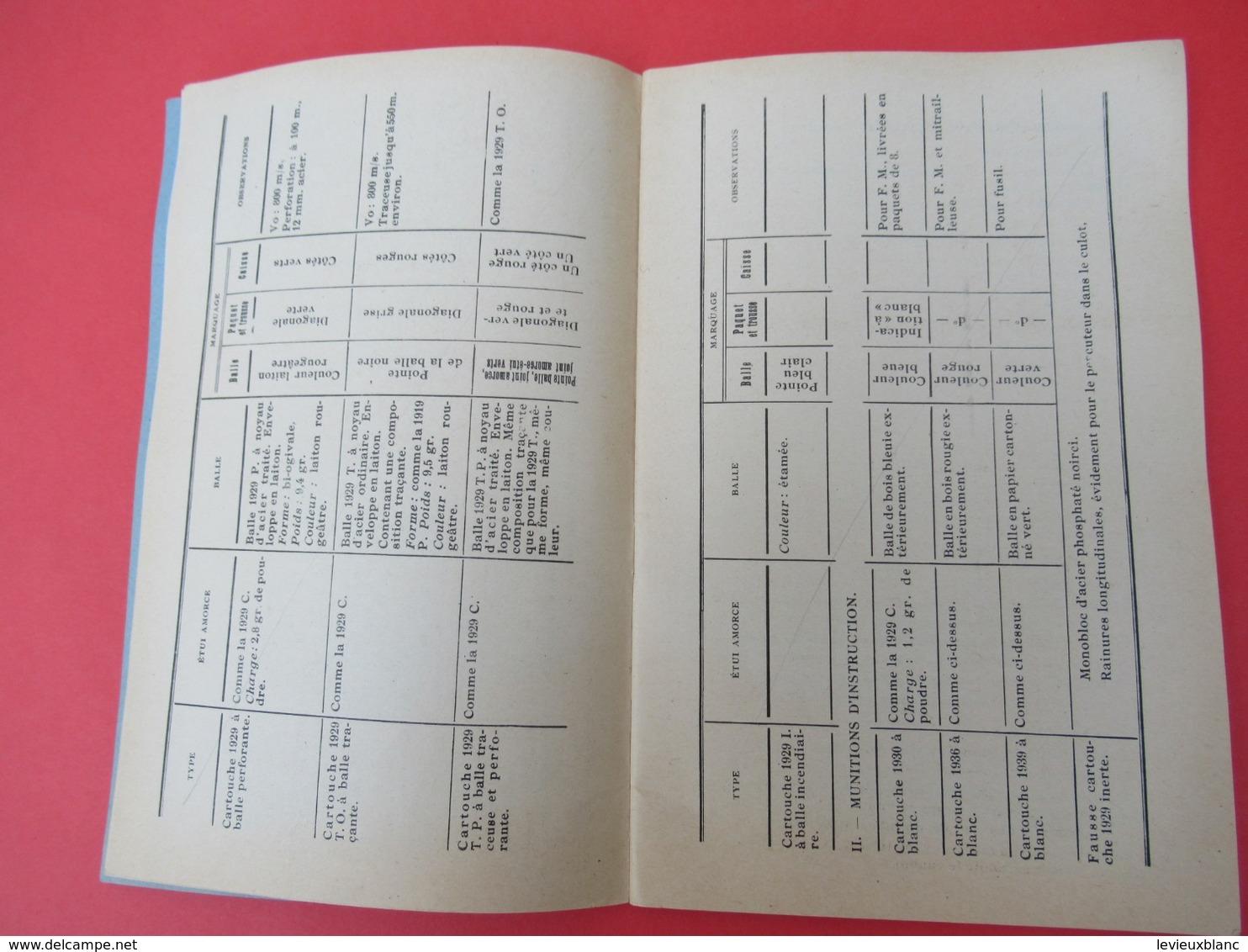 Livret/Ecole D'application De L'Infanterie/Fusil-Mitrailleur Mle 1924/modifié 1929/ Armement Et Tir/ 1958    VPN195 - Boeken