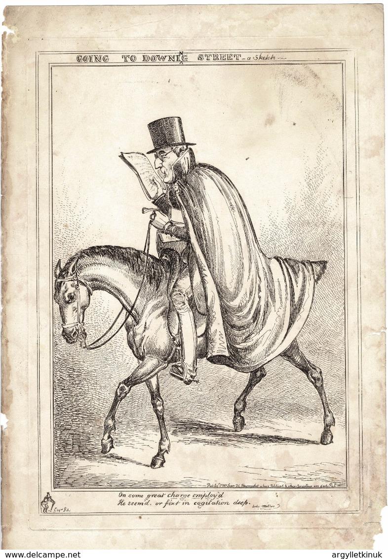 DUKE OF WELLINGTON PRIME MINISTER 1828 WILLIAM HEATH HORSE - Historical Documents
