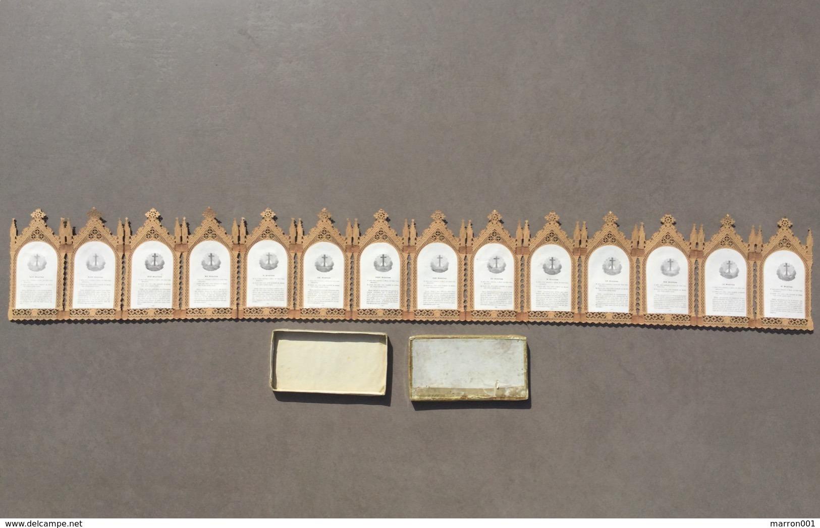 Canivet Ancien 1880 -  14 Stations Du Calvaire - Imágenes Religiosas