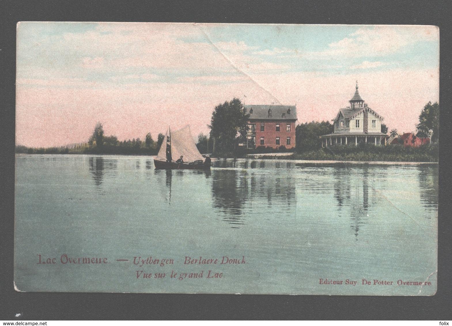 Overmere / Uitbergen - Lac Overmeire - Vue Sur Le Grand Lac - éd. Suy De Potter, Overmere - Zeilboot / Voilier - Berlare