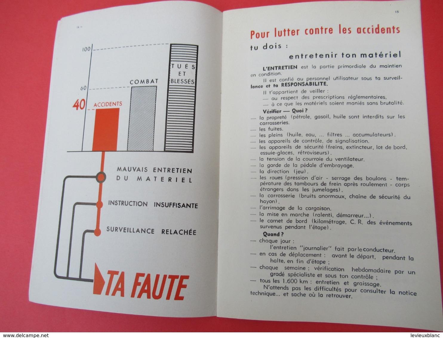 Livret/Militaria / Tu Es Responsable De Ton Matériel/ / Vers 1958  VPN198 - Boeken