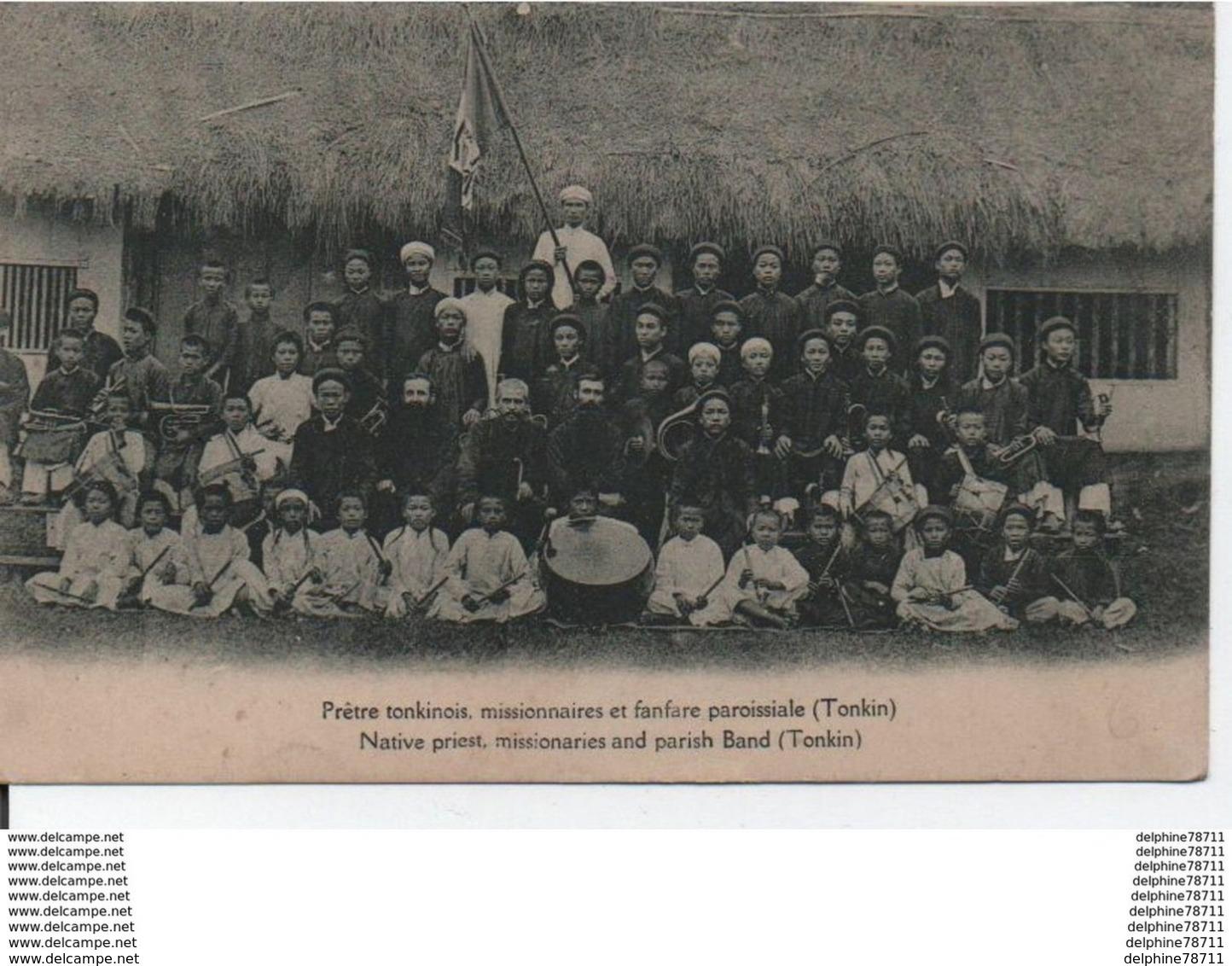 TONKIN Prêtres Tonkinois, Missionnaires Et Fanfare Paroissiale - Vietnam