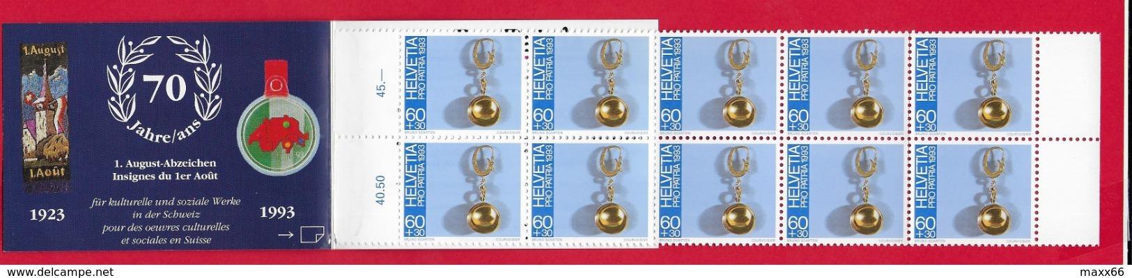LIBRETTO SVIZZERA MNH - PRO PATRIA 1993 - 10 X 60 + 30 Cent. - Pro Patria