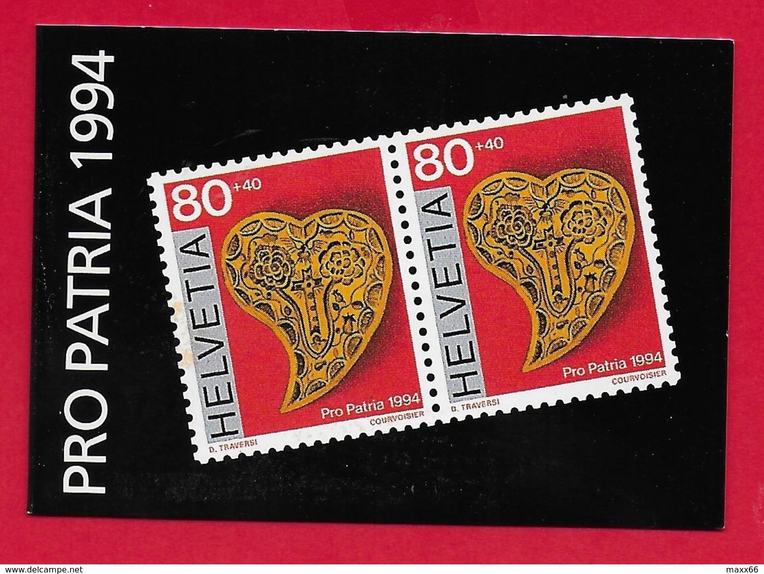 LIBRETTO SVIZZERA MNH - PRO PATRIA 1994 - 10 X 80 + 40 Cent. - Pro Patria