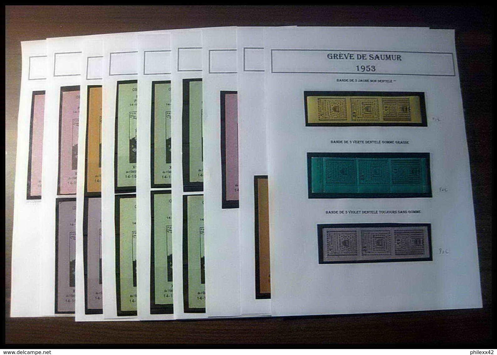 Départ 1 EURO - France - Timbres De Grève - Saumur 1953 Bel Ensemble Cote +/- 1000 Euros - Collections