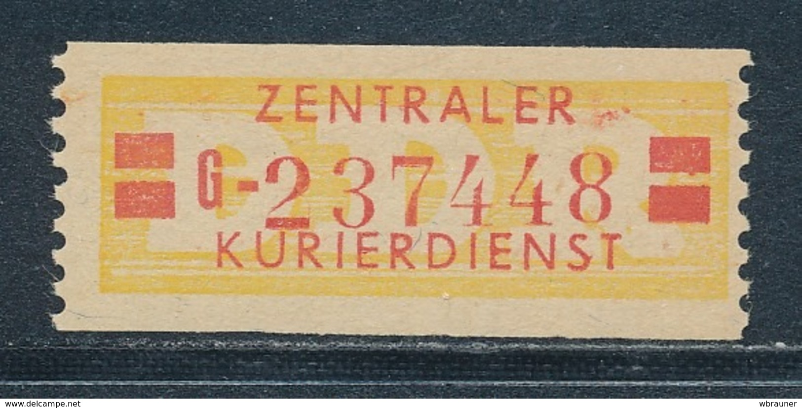 DDR Dienstmarken B 19 II Kennbuchstabe G ORIGINAL ** Geprüft Weigelt Mi. 60,- - DDR