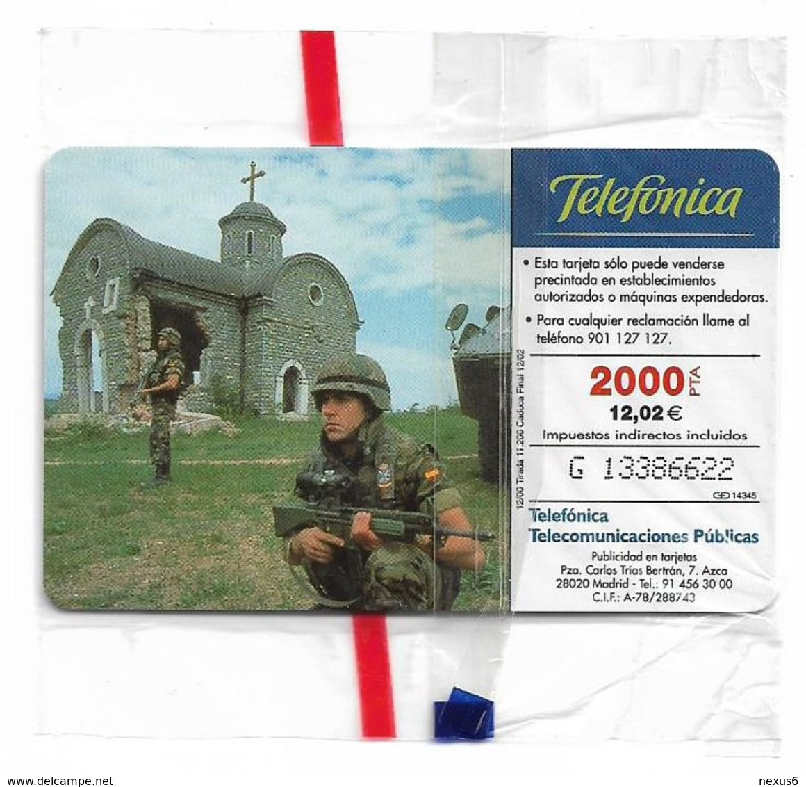 Spain - Telefónica - El Ejercito Espanol En Bosnia - CP-201 - 12.2000, 11.200ex, NSB - España