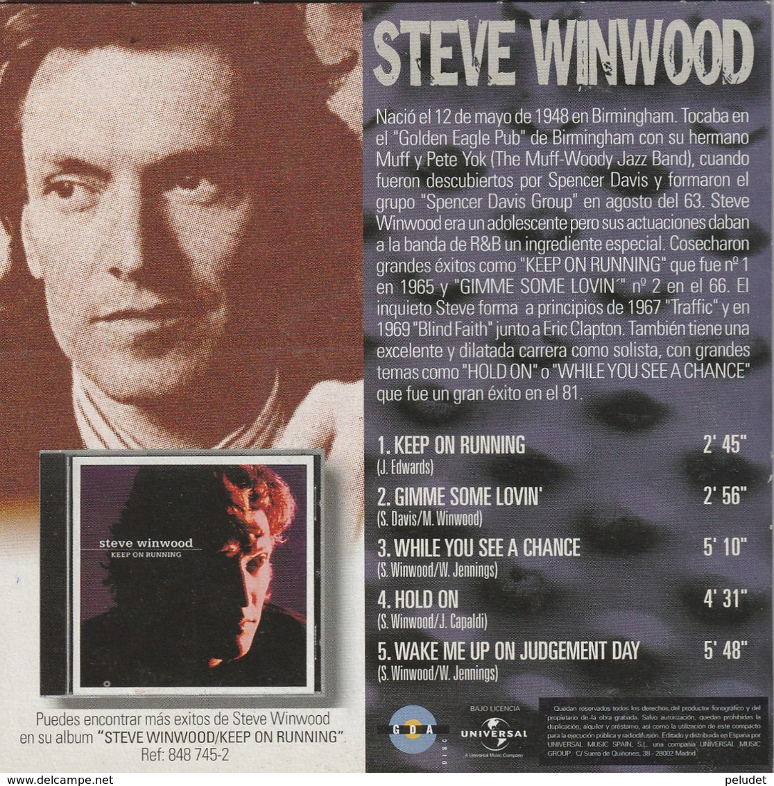 CD - GRANDES MITOS - STEVE WINWOOD - Rock