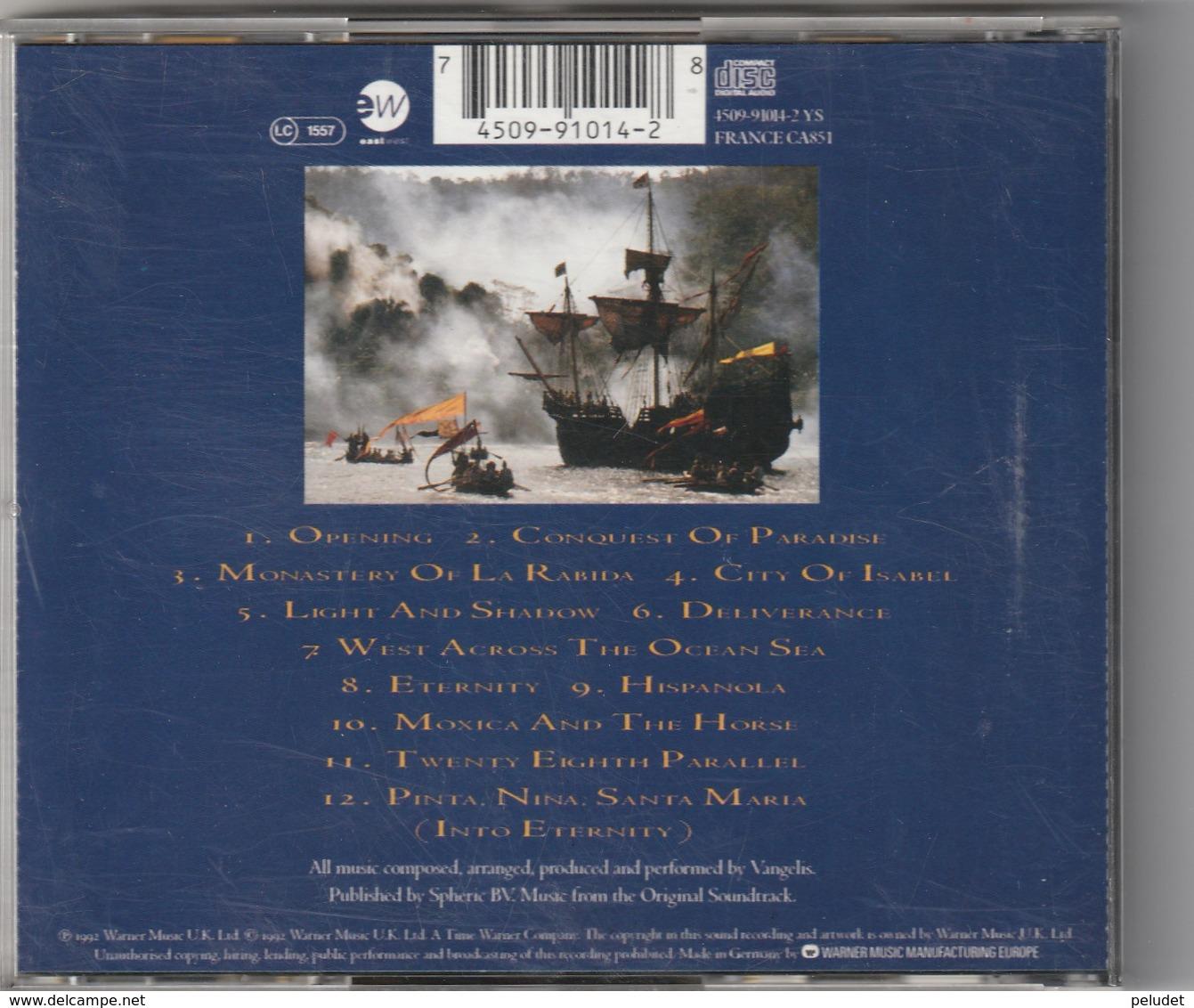 CD - VANGELIS - 1492 - Musik & Instrumente