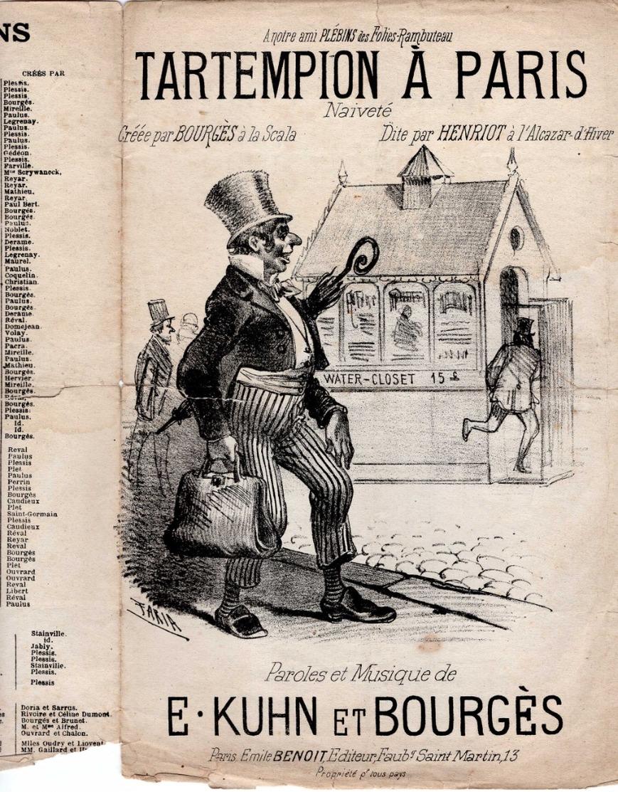 CAF CONC VESPASIENNE PISSOTIÈRE PARTITION XIX TARTEMPION À PARIS YONNAIS KUHN BOURGÈS 1883 ILL FARIA WATER-CLOSET - Musique & Instruments