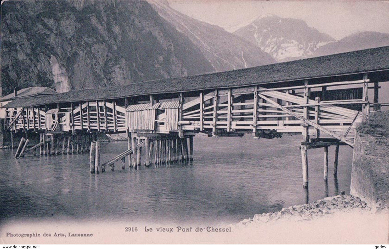 Chessel VD, Le Vieux Pont En Bois (2916) - VD Vaud