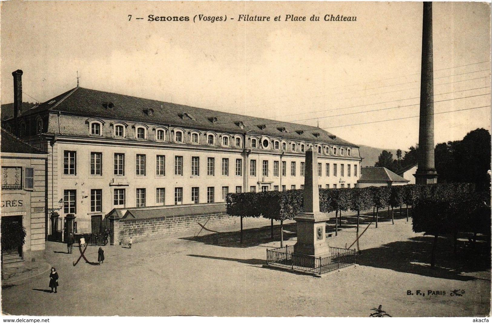 CPA SENONES - Filature Et Place Du Chateau (185066) - Senones