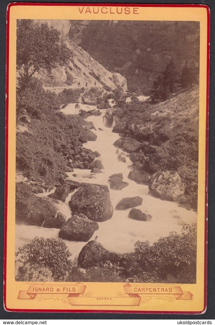 FRANCE 84 Vaucluse  - Fontaine Du Vaucluse,  Pres Avignon, C 1879 - Cabinet Photograph, Isnard & Fils, Carpentras - Ancianas (antes De 1900)