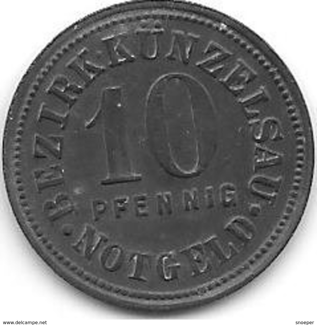 *notgeld  Kunzelsau 10 Pf 1917 Zn 7563.2/F 263.2 - [ 2] 1871-1918 : Empire Allemand