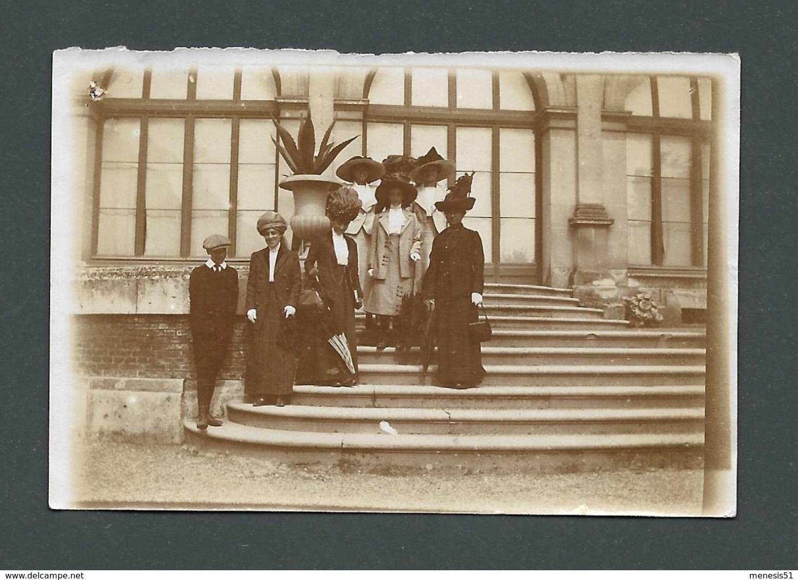 Photo Ancienne Real Foto Femmes Ladies Très élégantes Charme Beauty French Elegance Grands Chapeaux Big Hats - Other