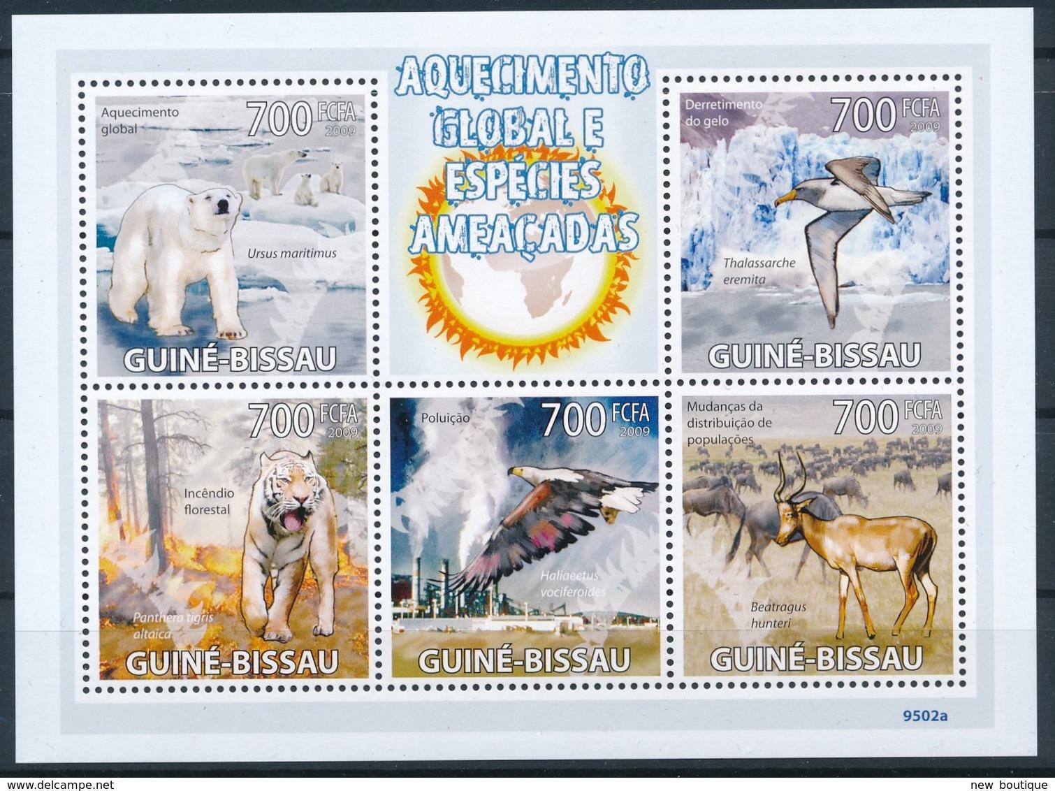 NB - [401158]TB//**/Mnh-Guinée-Bissau 2009 - Réchauffement Climatique, Espèce Menacée, Ours Blanc, Tigres, Oiseaux - Climate & Meteorology