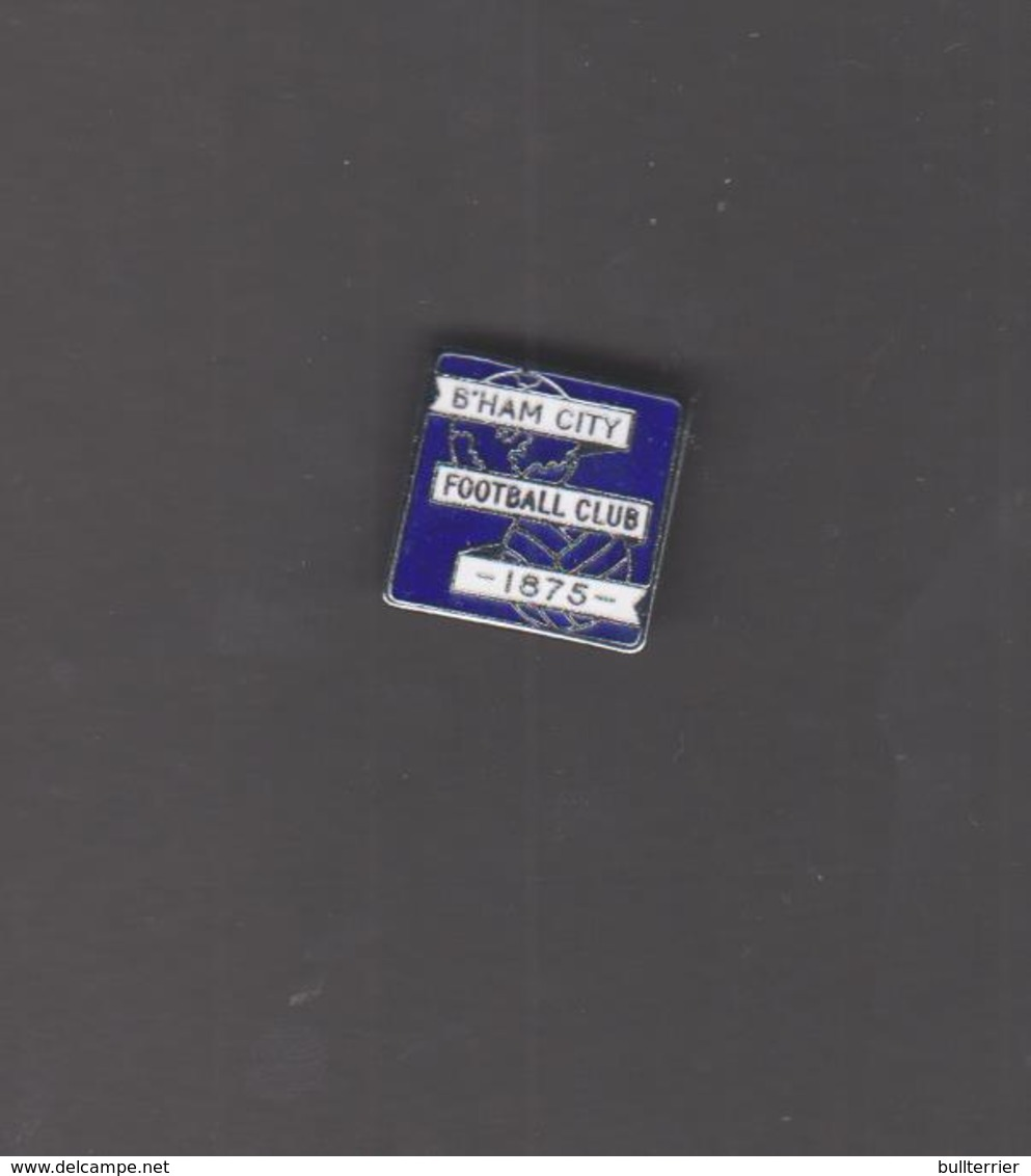 BIRMINGHAM CITY - SQUARE  1875 METAL  BADGE ,FINE CONDITION, OVER 50 YEARS OLD - Football