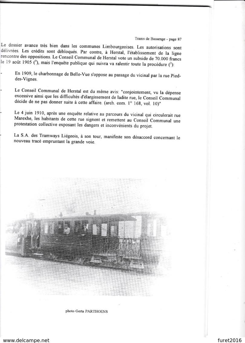 Histoire Des Chemins De Fer Dans La Vallee Du Geer Par Vanstipelen  133 Pages - Strade Ferrate