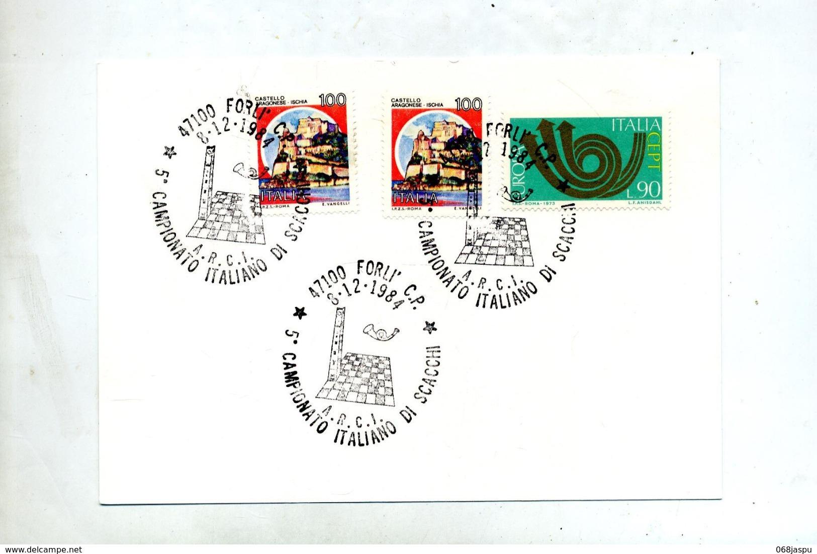 Carte Cachet Forli Echec - Marcofilia - EMA ( Maquina De Huellas A Franquear)