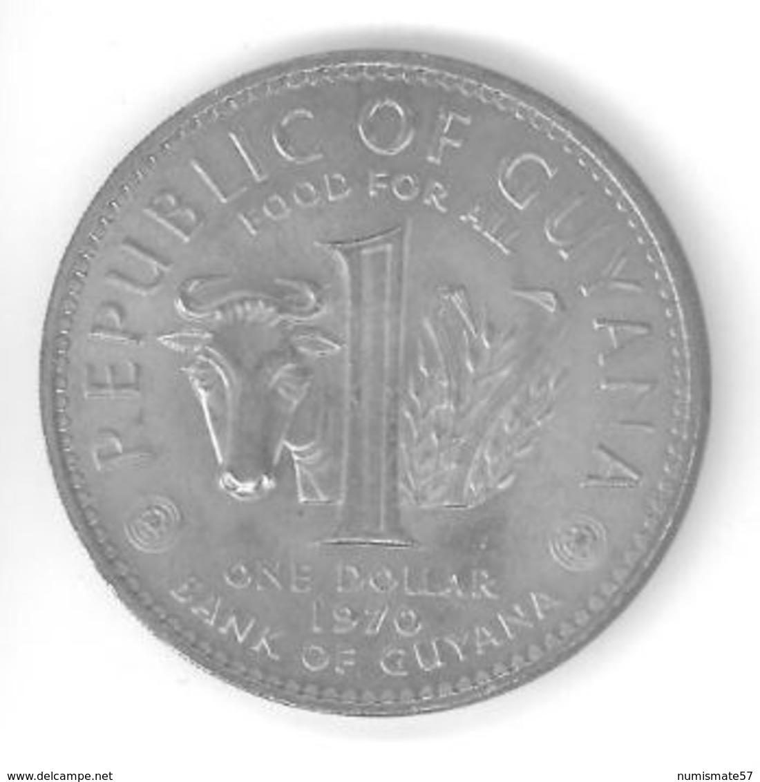 GUYANA - 1 DOLLAR 1970 - FAO - Guyana