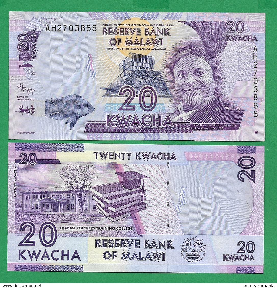 MALAWI - 20 KWACHA - 2012 - UNC - Malawi