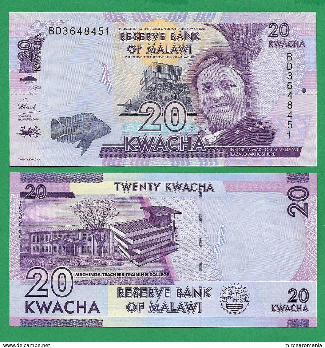 MALAWI - 20 KWACHA - 2016 - UNC - Malawi