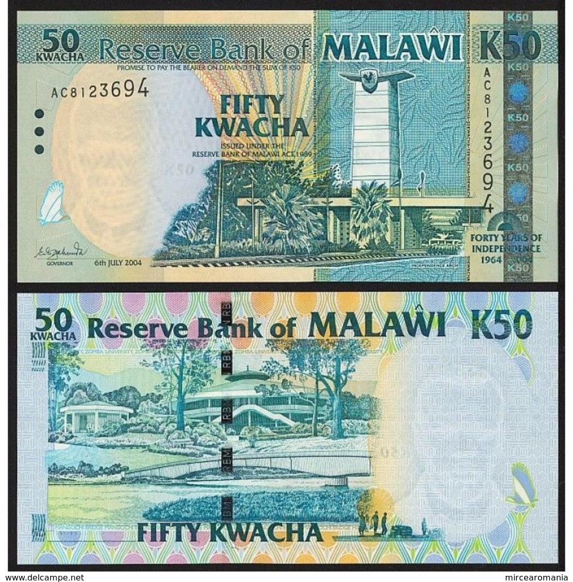 MALAWI - 50 KWACHA - 2004 – COMEMORATIVA - UNC - Malawi