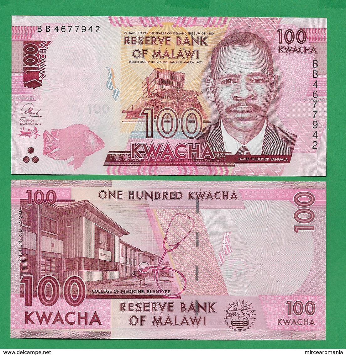 MALAWI - 100 KWACHA - 2016 - UNC - Malawi