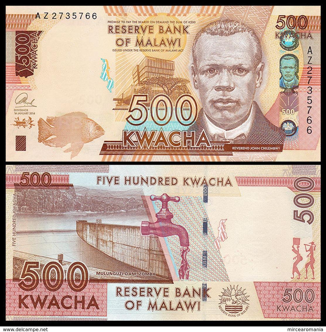MALAWI - 500 KWACHA - 2014 - UNC - Malawi