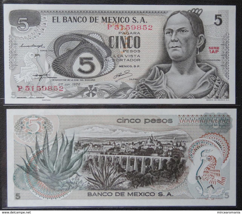 MEXICO - 5 PESOS - 1972 - UNC - Mexico