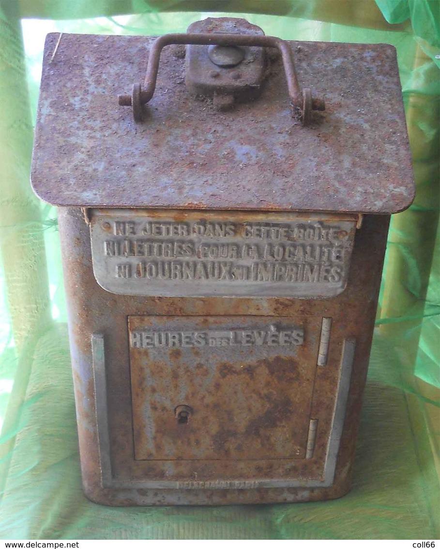 RARE 1900-1911 Boîte à Lettres Boîte Mobile De Gare Modèle Delachanal Paris Du Grenier à Nettoyer Authentique La Poste - Post