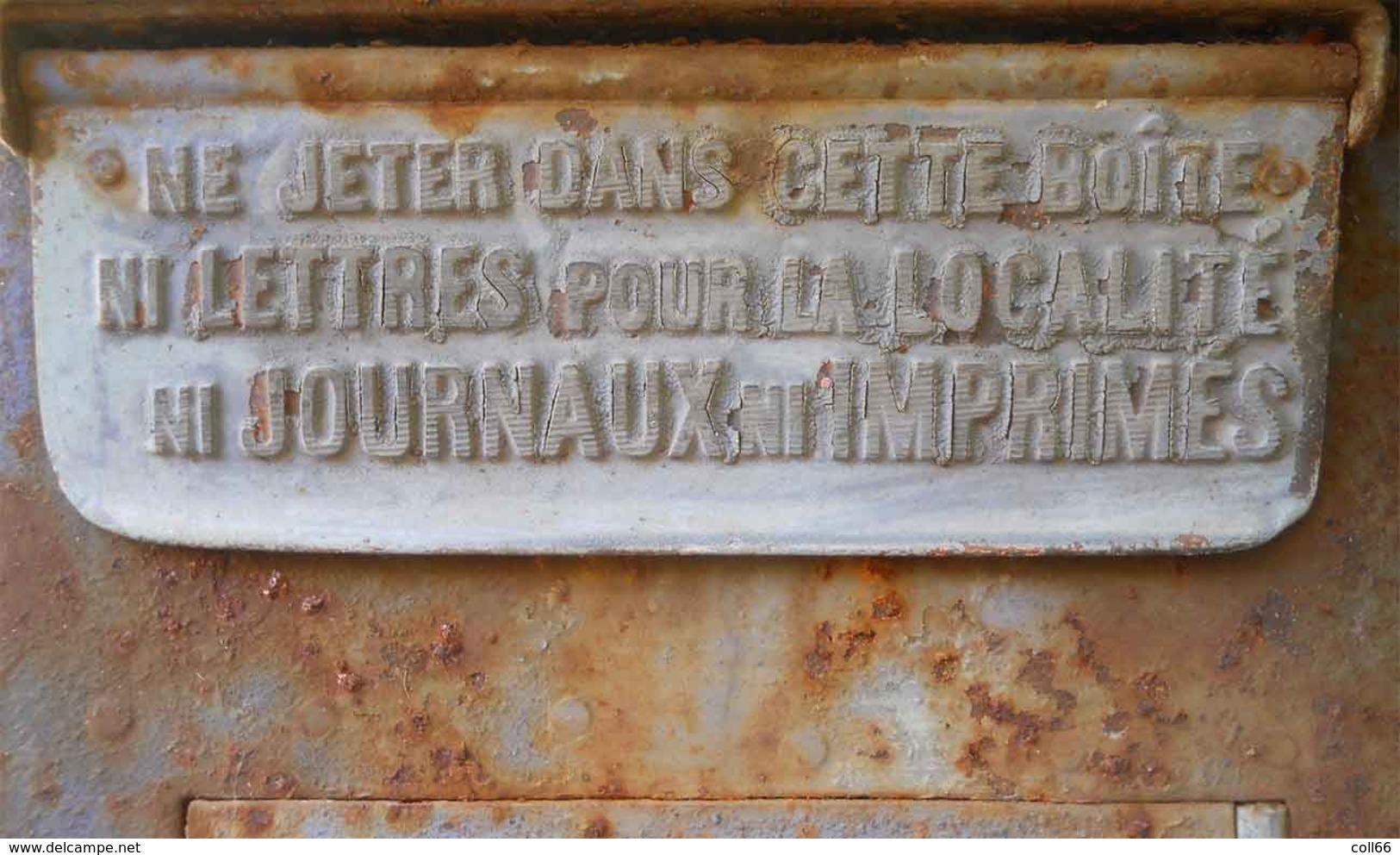 RARE 1900-1911 Boîte à Lettres Boîte Mobile De Gare Modèle Delachanal Paris Du Grenier à Nettoyer Authentique La Poste - Poste