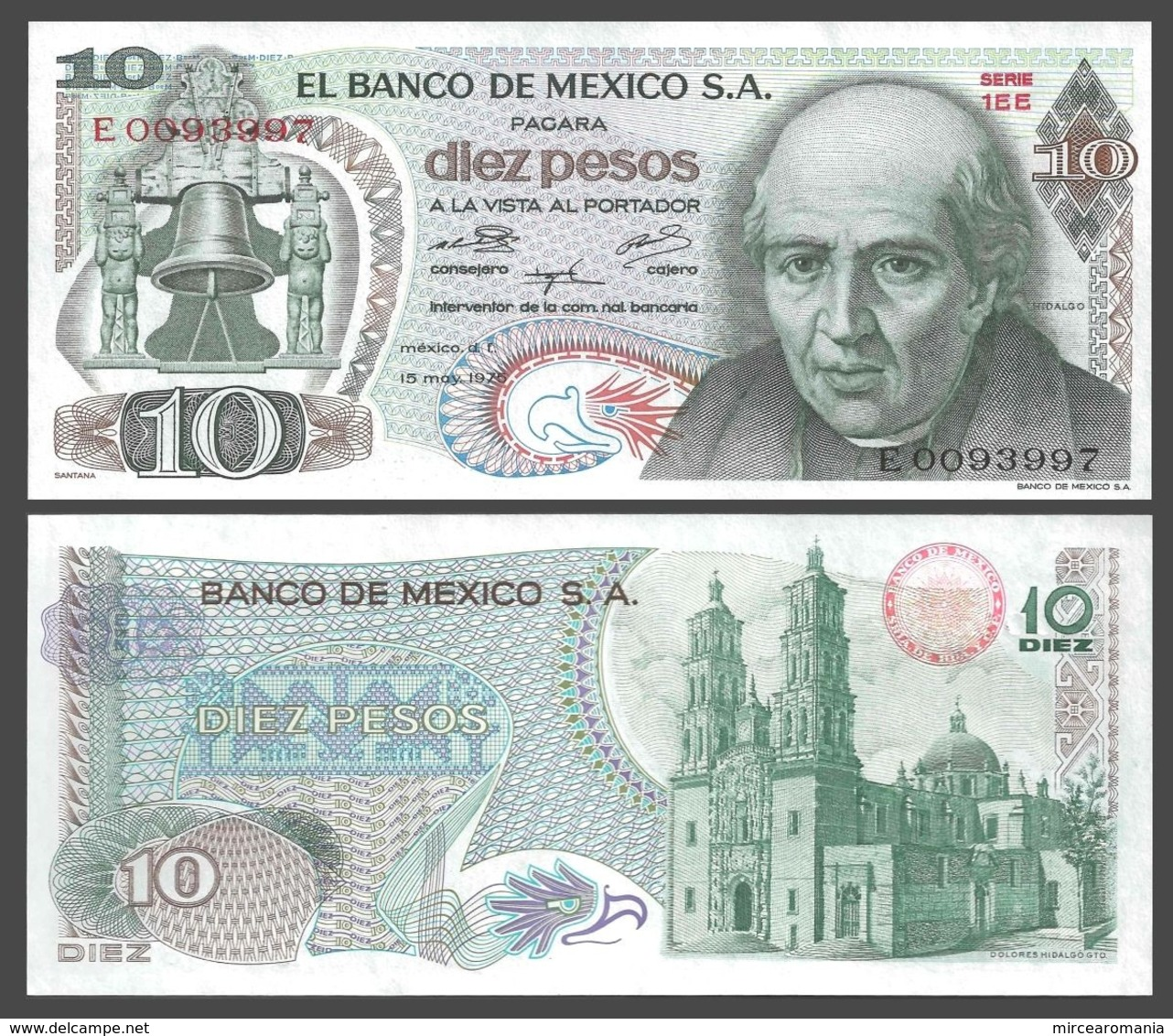 MEXICO - 10 PESOS - 1975 - UNC - Mexico