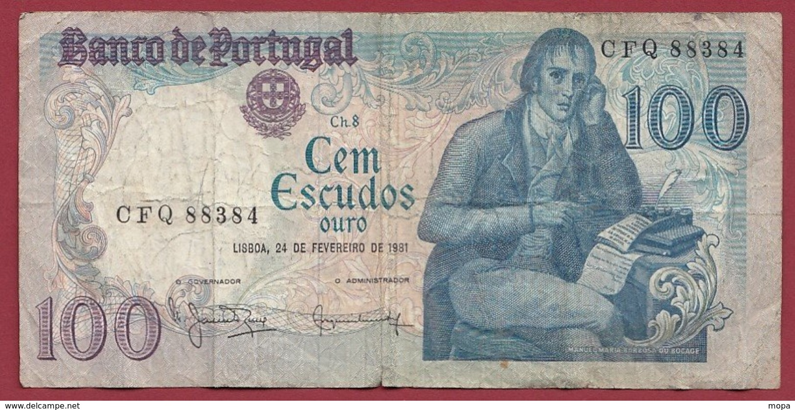 Portugal 100 Escudos Du 24/02/1981  Dans L 'état (13) - Portugal