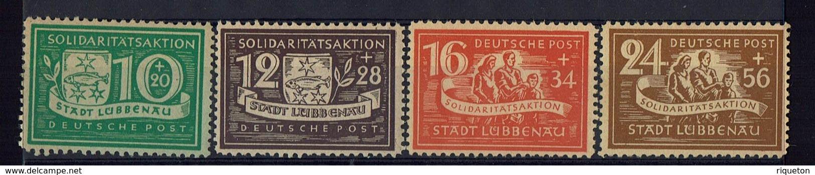 Allemagne - 1946 - Emission Locale Lubbenau N° 9-12 - Neufs Sans Charnière - XX - Dentelés 10.1/4 X 11. 3/4 - TB - - Zone Soviétique