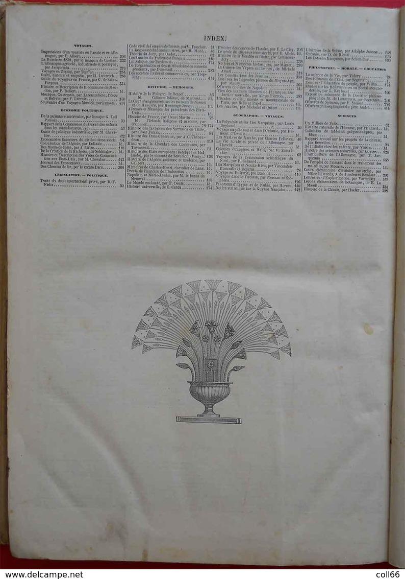 RARE 1843-1844 L'Illustration Tome 1 & 2 Reliés Carton N°1 (mars 1843) à 26 Et 27 à 52 (février 1844) Dedans Très Propre - Bücher, Zeitschriften, Comics