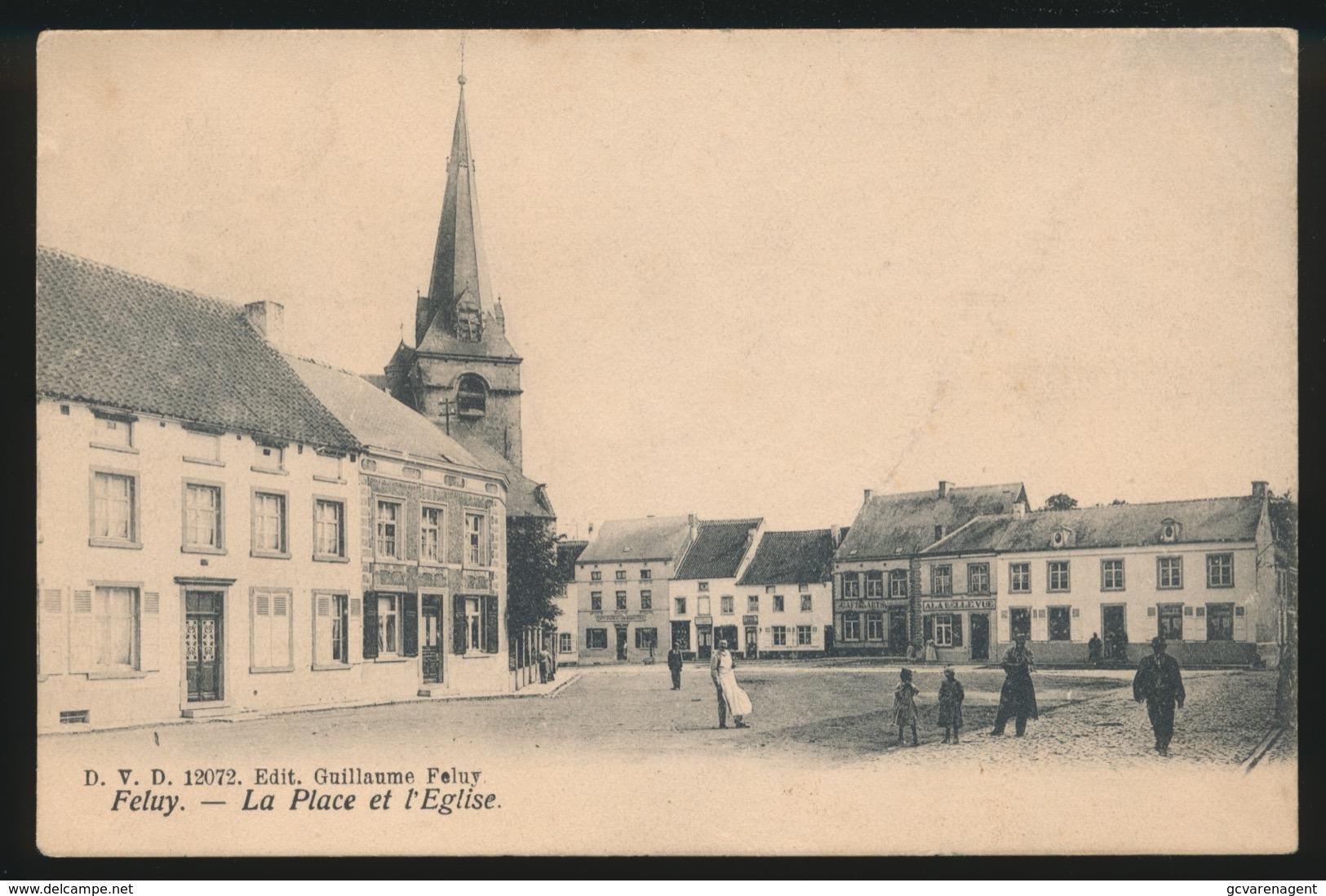 FELUY   LA PLACE ET L'EGLISE - Seneffe