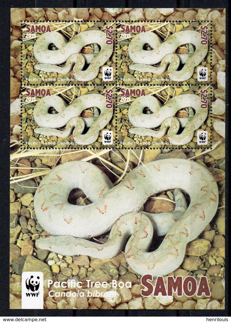 SAMOA   Timbres Neufs **  De 2015 (ref 6700 ) Animaux - Serpents- Voir 4 Scans - Samoa
