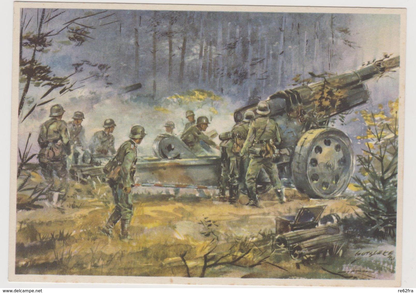 Schwere Artillerie ,  II°WW,  Illustrata Da Gutschke Nel 1940   - F.G - War 1939-45