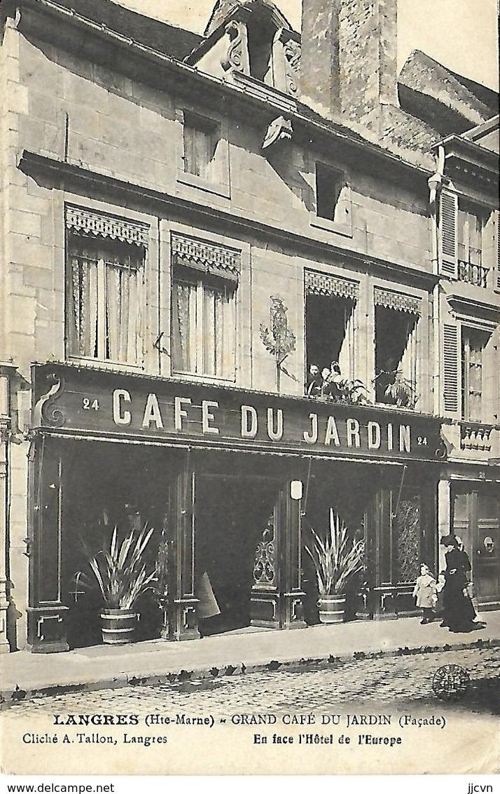 52 - Langres - Grand Café Du Jardin - En Face L' Hôtel De L' Europe - Langres