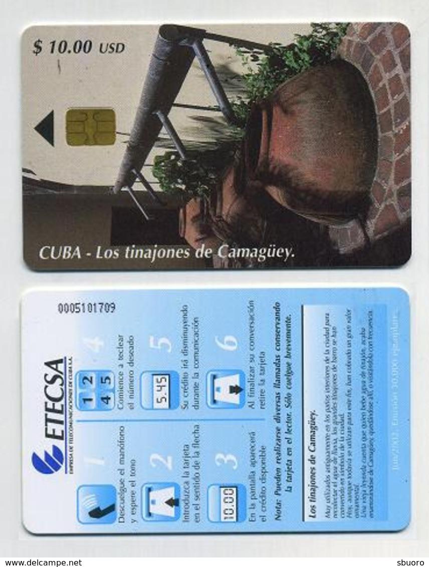 Carte à Puce Téléphonique. ETECSA Cuba. $10.00 Los Tinajones De Camagüey - Cuba